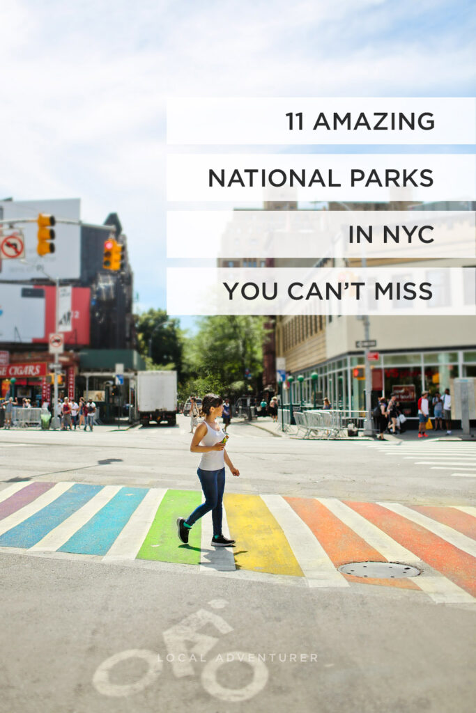 Traveling to New York? Save this pin and click through to see our ultimate guide to 11 national parks in new york city plus a complete list of NYs parks. We'll give you details of each, including when they are open, insider tips, and details like the statue of liberty location. If you're looking to escape the city, we also include a list of upstate New York parks, the best ny state parks, and best national monuments in New York. // Local Adventurer Local Adventurer #seeyourcity #nycgo #nyc #iloveny #newyork #newyorkcity #visittheusa
