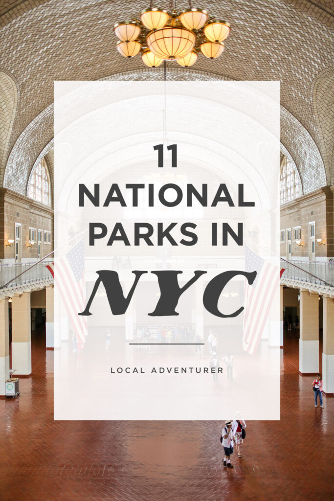 Looking for the best national parks in new york city? Save this pin and check out our complete guide and list of NYs parks. We cover all the tips you need to know for visiting the Statue of Library National Monument, Federal Hall, Stonewall Inn NYC, and more. If you want to get outside, we also include a list of the best New York state parks and a map to major national parks near the city (NYC to Acadia National Park here we come!) // Local Adventurer #seeyourcity #nycgo #nyc #iloveny #newyork #newyorkcity #visittheusa