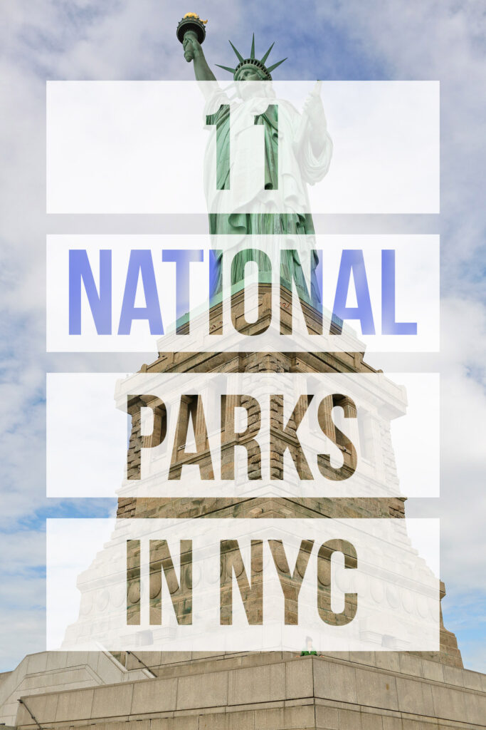 Visiting the big apple and want to see the national parks in new york city? Save this pin and click through to learn about all 11. We include tips to help you plan your visit to some of the best east coast national parks, like the Statue of Liberty National Monument. We also have resources like NYs parks map, a list of state parks in upstate ny, and national parks in upstate new york. // Local Adventurer #seeyourcity #nycgo #nyc #iloveny #newyork #newyorkcity #visittheusa