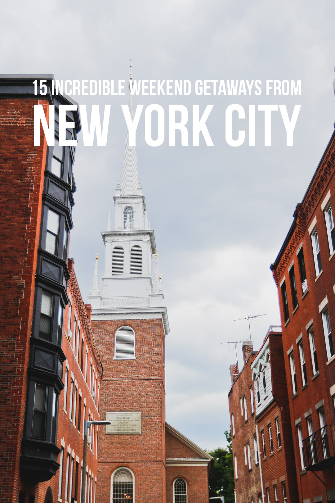 Planning to get away from the city for the weekend? Save this pin and click through to see a list of the best weekend trips from NYC. If you're looking for the best family weekend getaways from nyc, trying to escape during the Fall or Winter, or looking for romantic getaways near nyc, this list has you covered. // Local Adventurer #roadtrip #newengland #visittheusa #usa