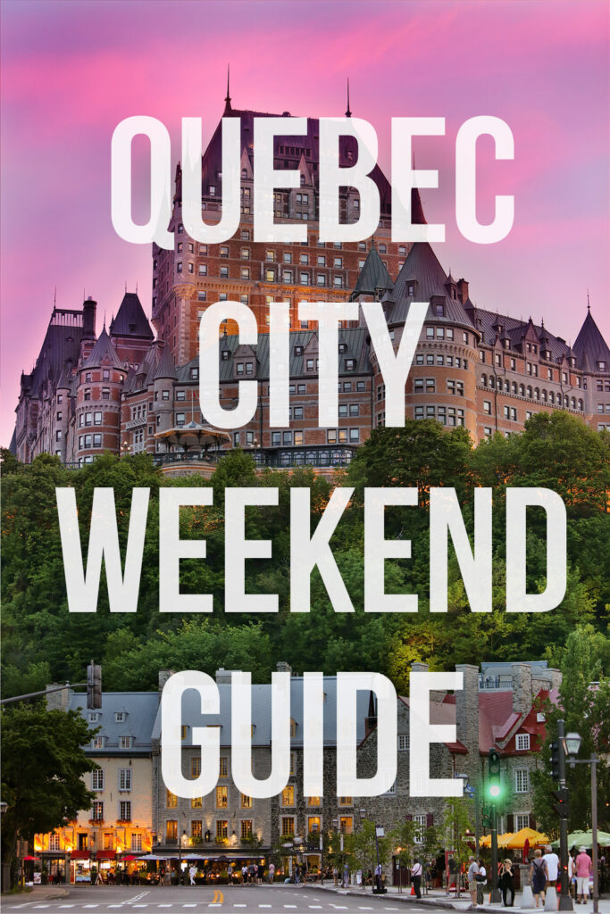 Heading to Quebec City? Save this pin and click through to check out my list of the best things to do in quebec city. The list includes which old quebec city hotel you can't miss, the best quebec city tourist attractions, the day trips from quebec city that are worth your time, and more. It also has general travel tips and where to stay in quebec city. // Local Adventurer #quebec #quebeccity #canada #travel