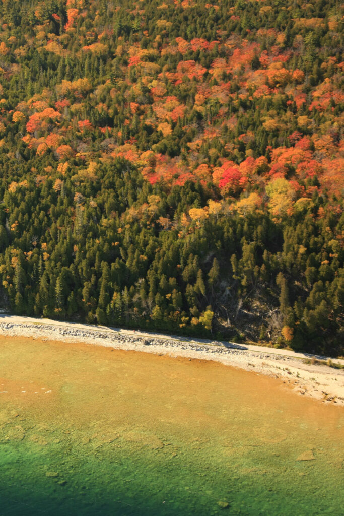 Fall Colors Michigan + 17 Breathtaking Places for the Best Fall Foliage in the USA // Local Adventurer #usa #travel #fall #foliage #leaves #autumn #trees #michigan #mackinacisland