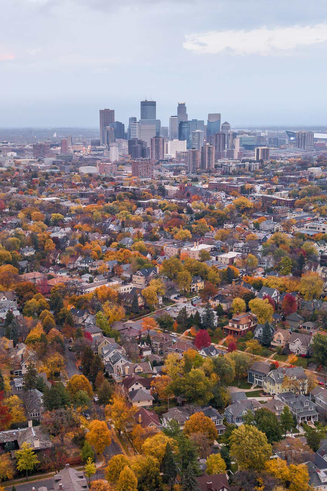 minneapolis fall colors + 17 best fall vacations in us
