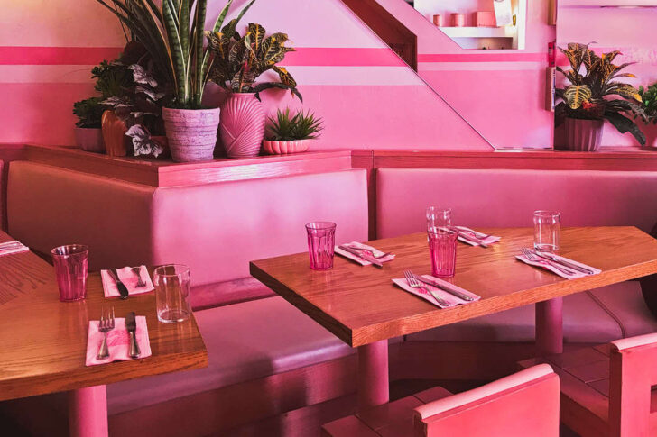 Pietro Nolita - Pink Restaurant in NYC + 25 NYC Instagram Spots You Should See on Your Next Visit // Local Adventurer #nyc #pink #nolita #newyork #newyorkcity #manhattan #instagram #photography #ny #usa