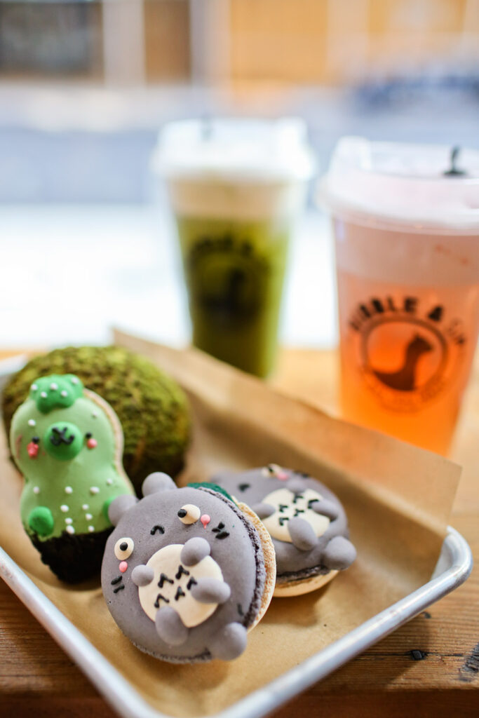 Bibble and Sip NYC has the cutest Totoro Macarons // Local Adventurer #nyc #newyork #newyorkcity #usa #food #foodie #travel #wanderlust #desserts #macaron #totoro