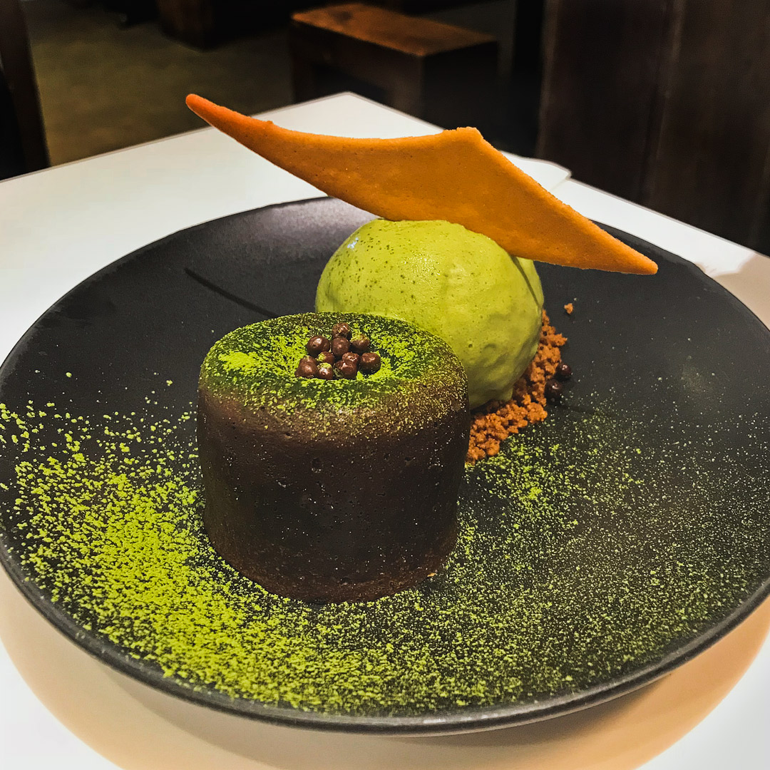 Matcha Molten Lava Cake at Spot Dessert Bar + 17 Best Desserts in NYC // Local Adventurer #nyc #newyork #newyorkcity #usa #food #foodie #travel #desserts #cake #matcha