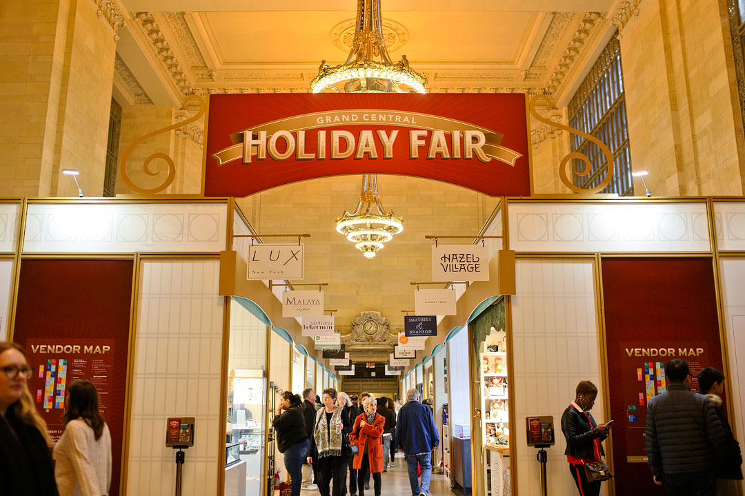 Christmas Market Grand Central Terminal + Best NYC Holiday Markets 2020 | LocalAdventurer.com