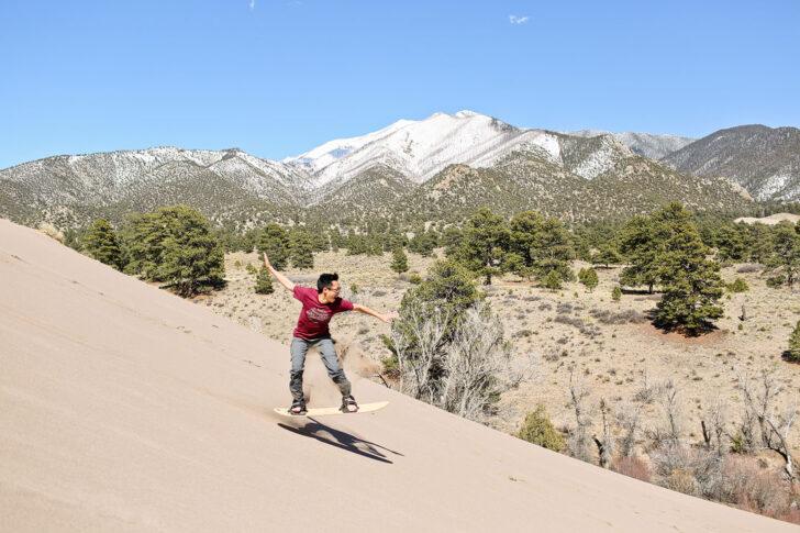 Great Sand Dunes National Park Sandboarding