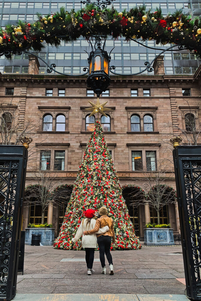 Lotte New York Palace Christmas Tree + What to Do in New York At Christmas - Best Christmas Vacations in US | LocalAdventurer.com