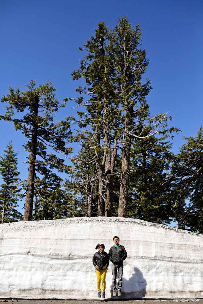 Crater Lake Spring Still Deep in Snow