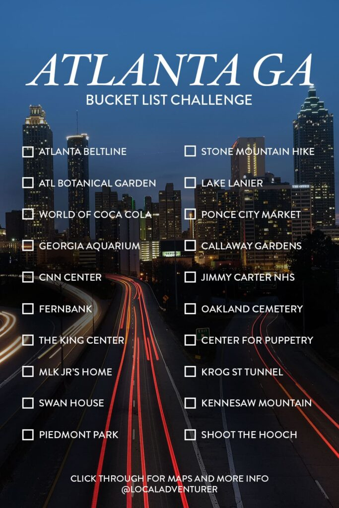 101 Things to Do in Atlanta Bucket List Challenge