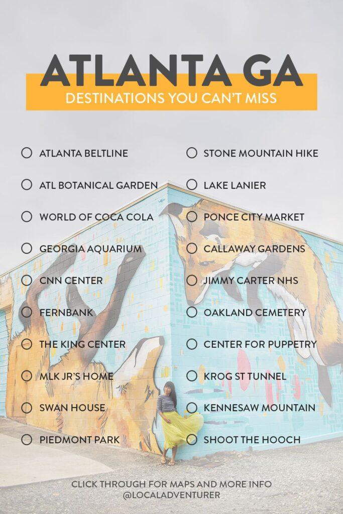 Your Ultimate Atlanta Bucket List Checklist