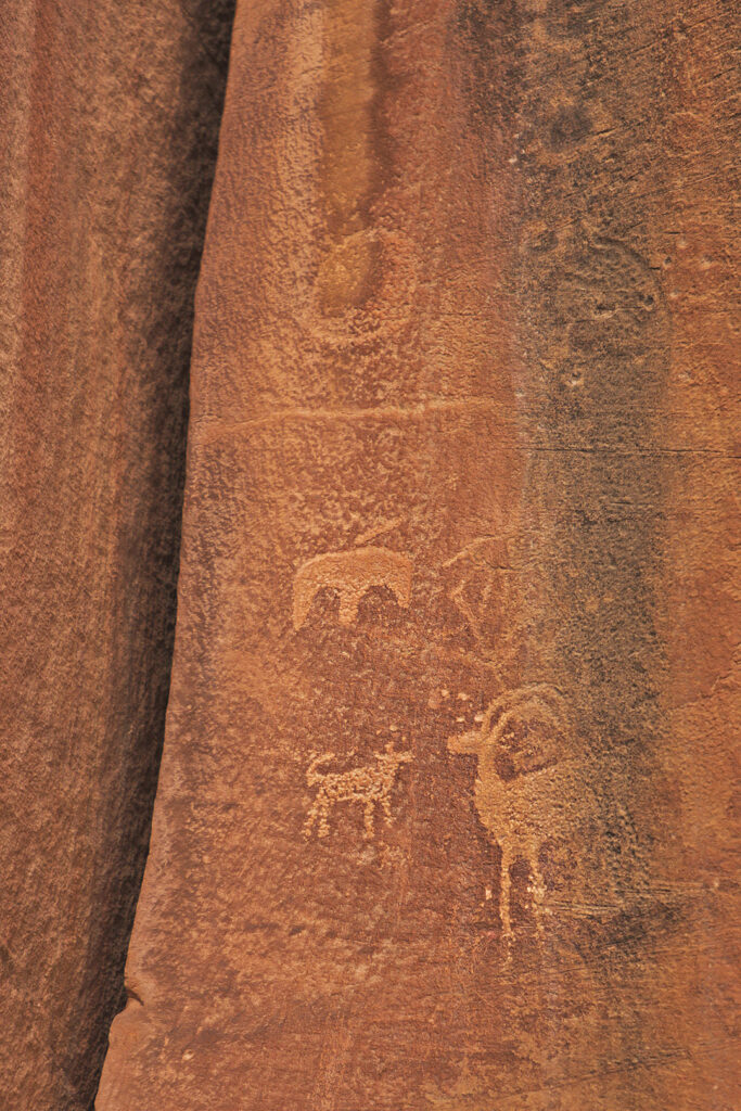 Capitol Reef Utah National Park Petroglyphs