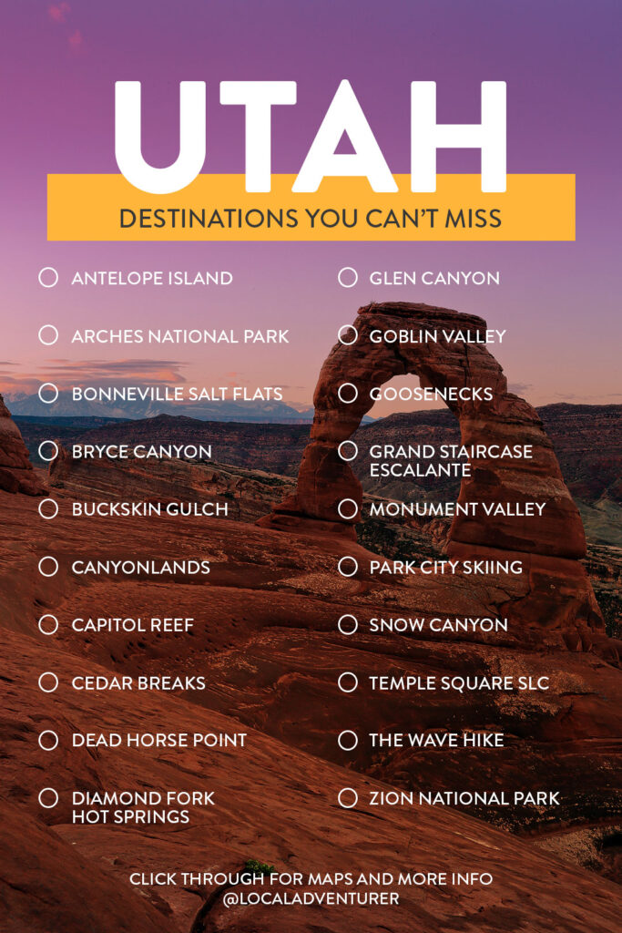 Your Utah Bucket List - Fun Things to Do in Utah