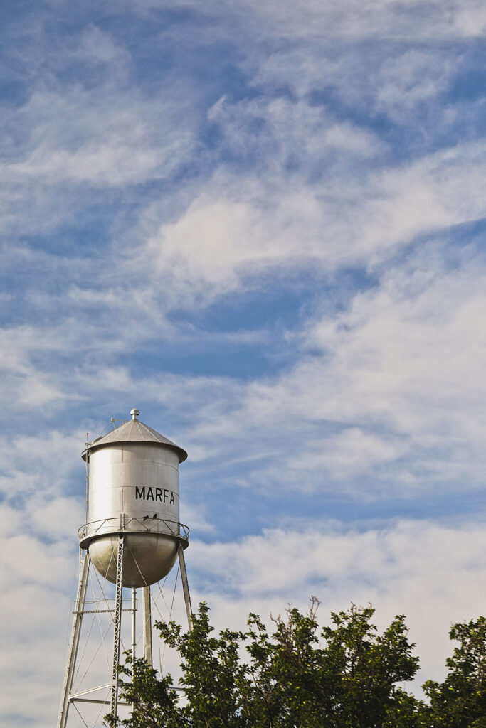 Marfa Water Tower + Your Ultimate West Texas Road Trip