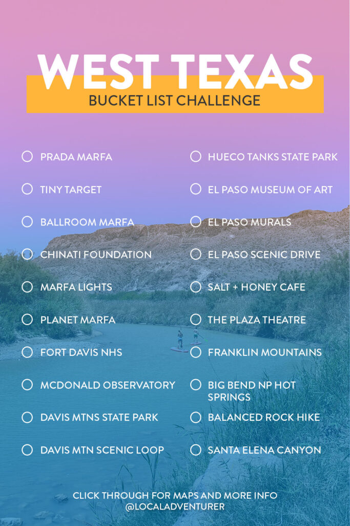 West Texas Bucket List Challenge