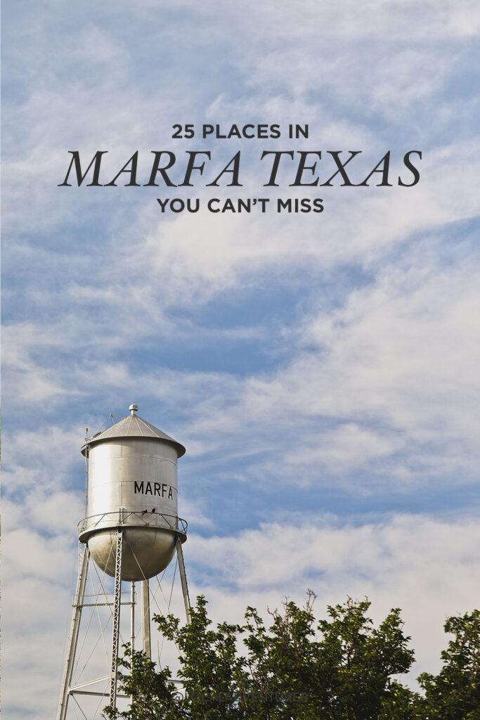 Marfa TX Things to Do