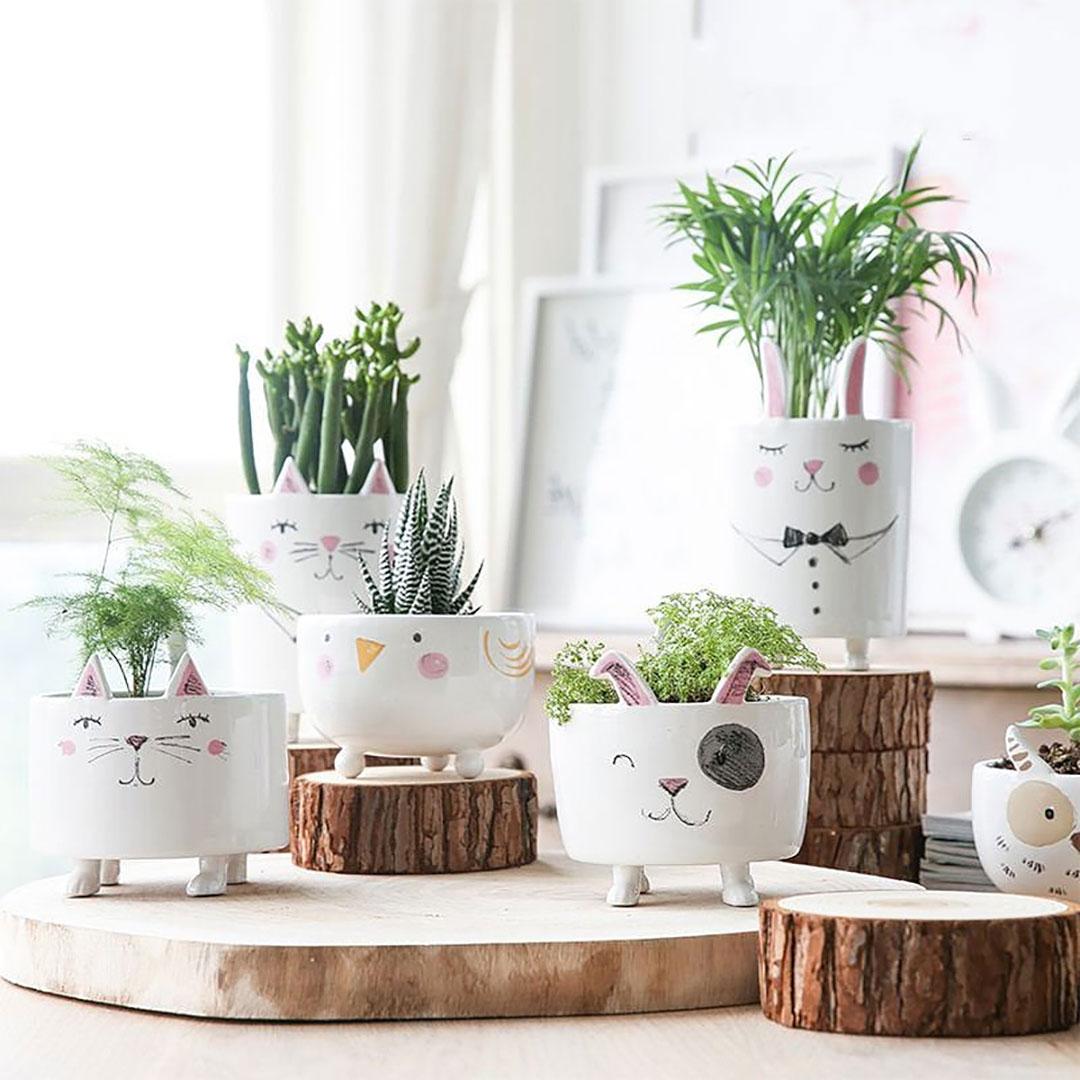 Ceramic Animal Planters + 9 Creative 9th Wedding Anniversary Gift Ideas