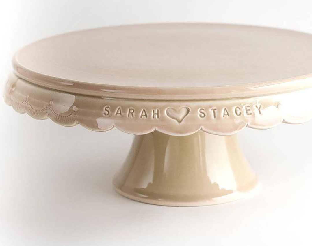 Personalized Cake Stand + 9 Creative 9 Year Anniversary Gift Ideas