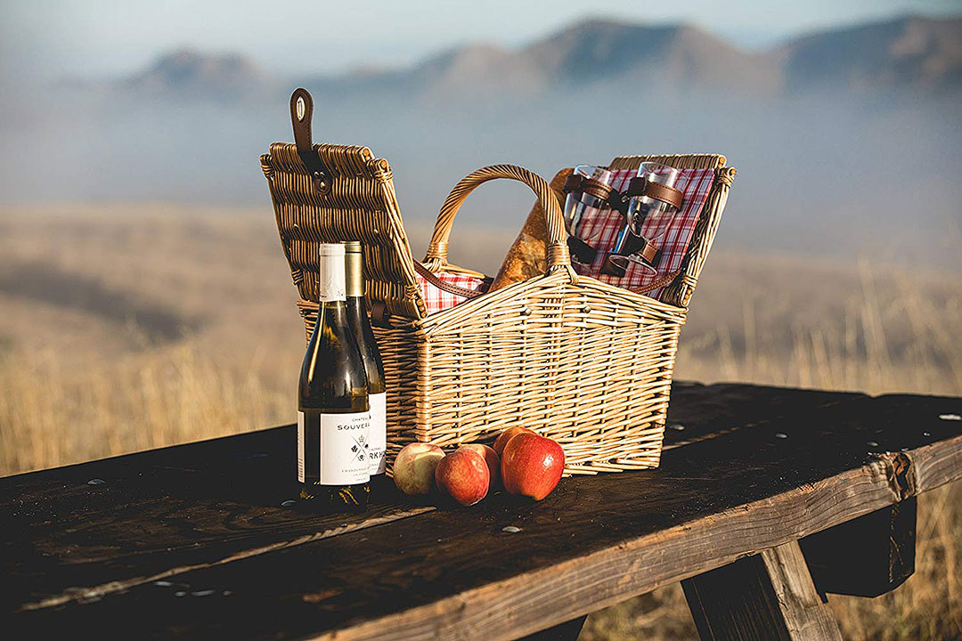 Willow Picnic Basket + Willow Picnic Basket + Nine Creative 9th Wedding Anniversary Gift Ideas