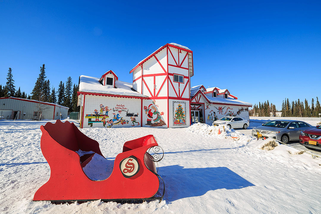 North Pole Alaska + 15 Best Places to Go For Christmas in USA