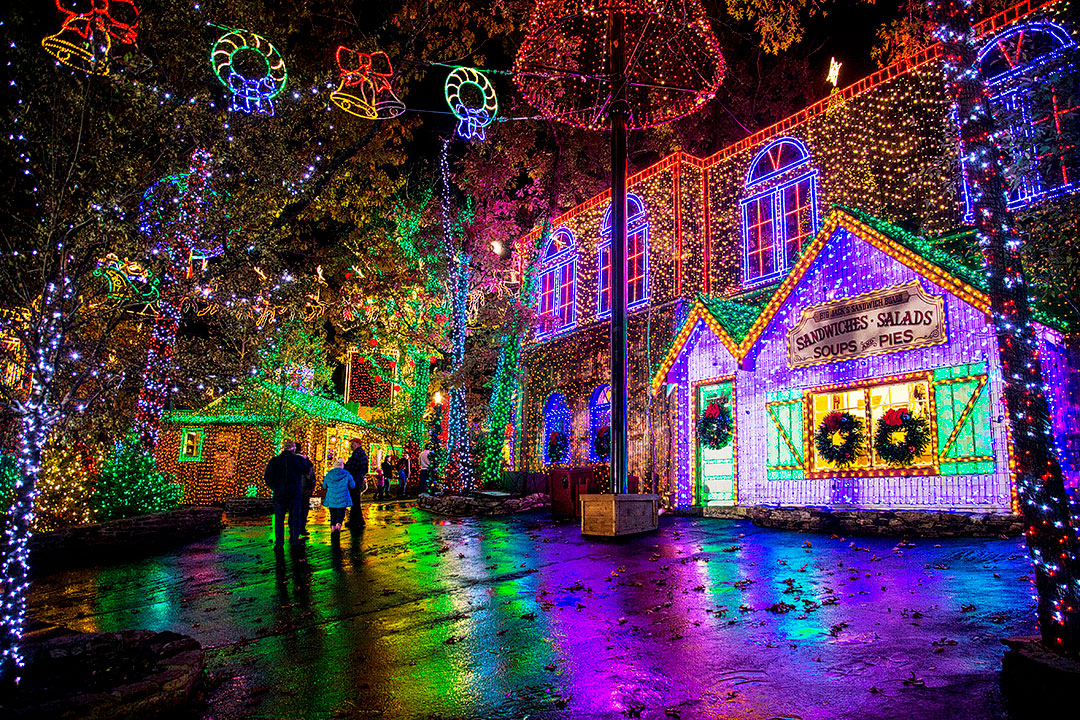 Silver Dollar City Christmas + 15 Best Places to Celebrate Christmas in the US