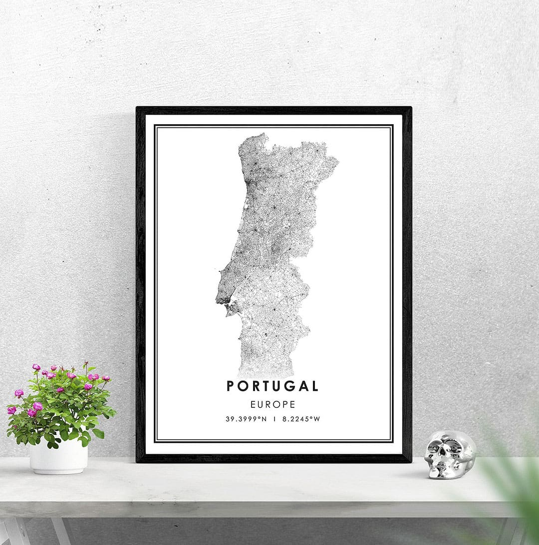 Portugal Map Print + What You Need to Know Before Your First Douro River Cruise
