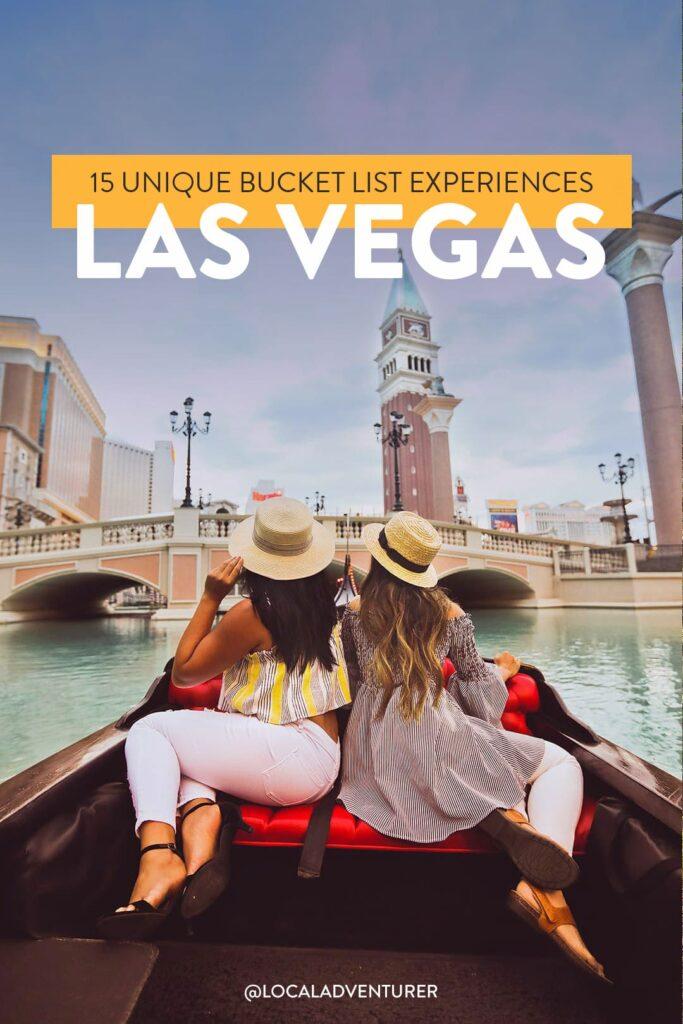 15 Unique Bucket List Experiences in Las Vegas