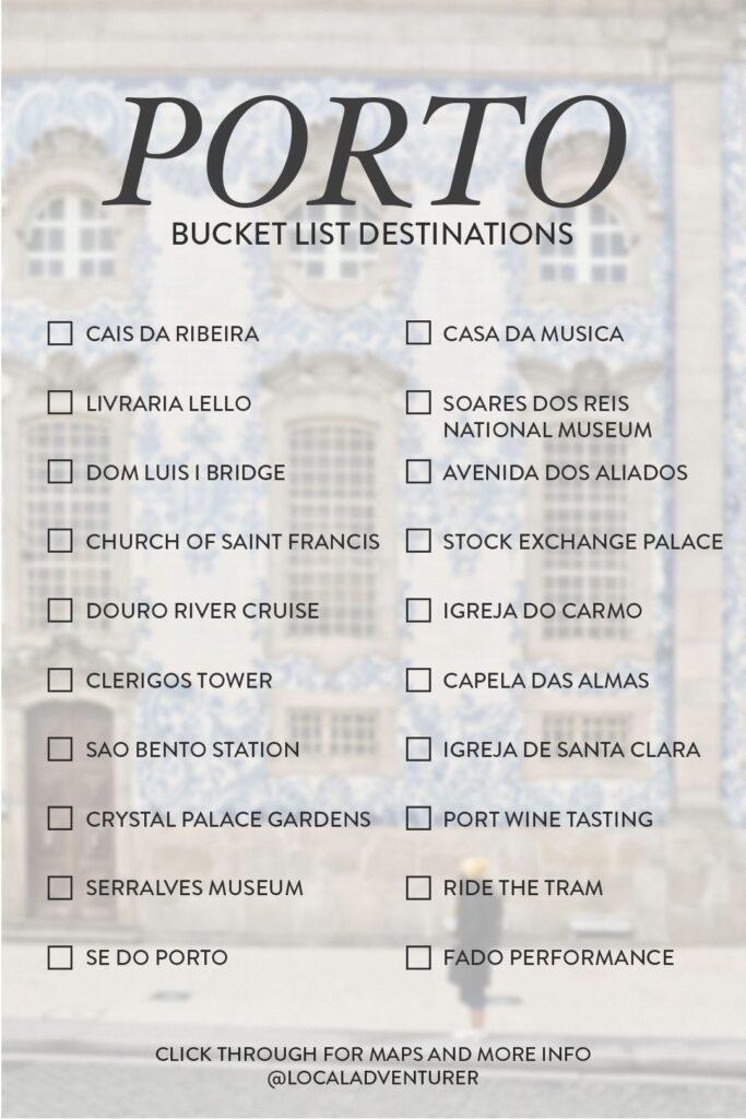 What to See in Porto Bucket List Destinations