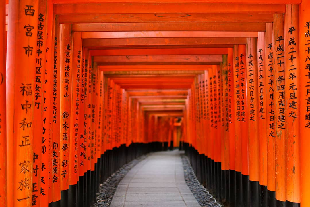 Fushimi Inari Shrine Kyoto famous for its Red Torii Gates