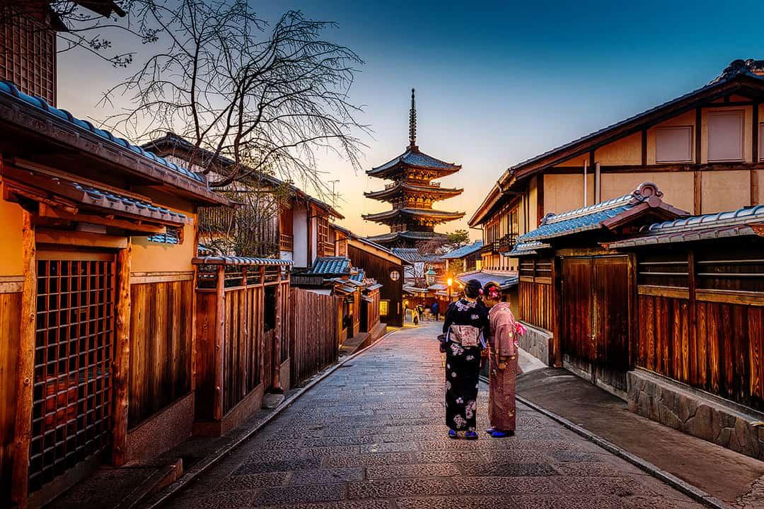 Hokanji Temple or Yasaka-no-Tou in Southern Higayashima District Kyoto Japan