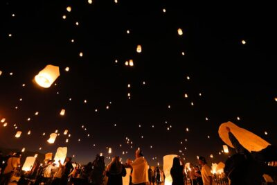 rise festival lantern release