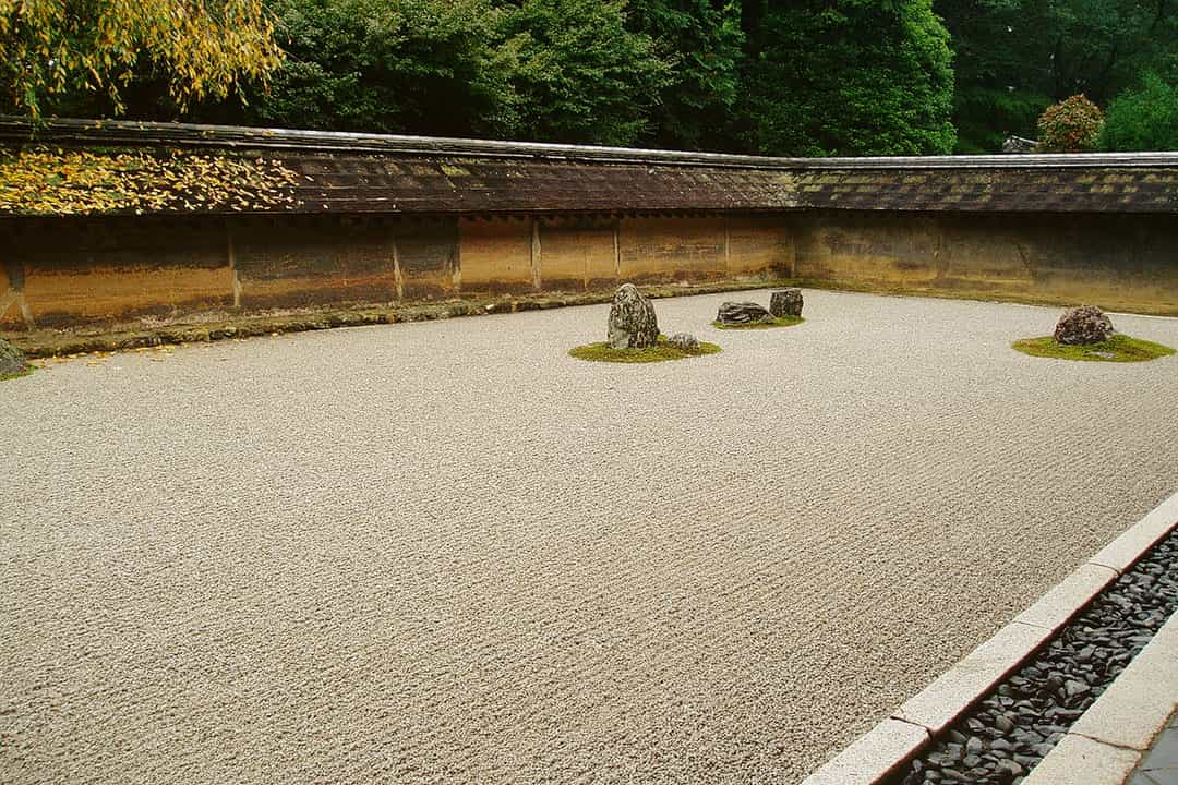 Ryoanji Garden - the most famous rock garden in Japan