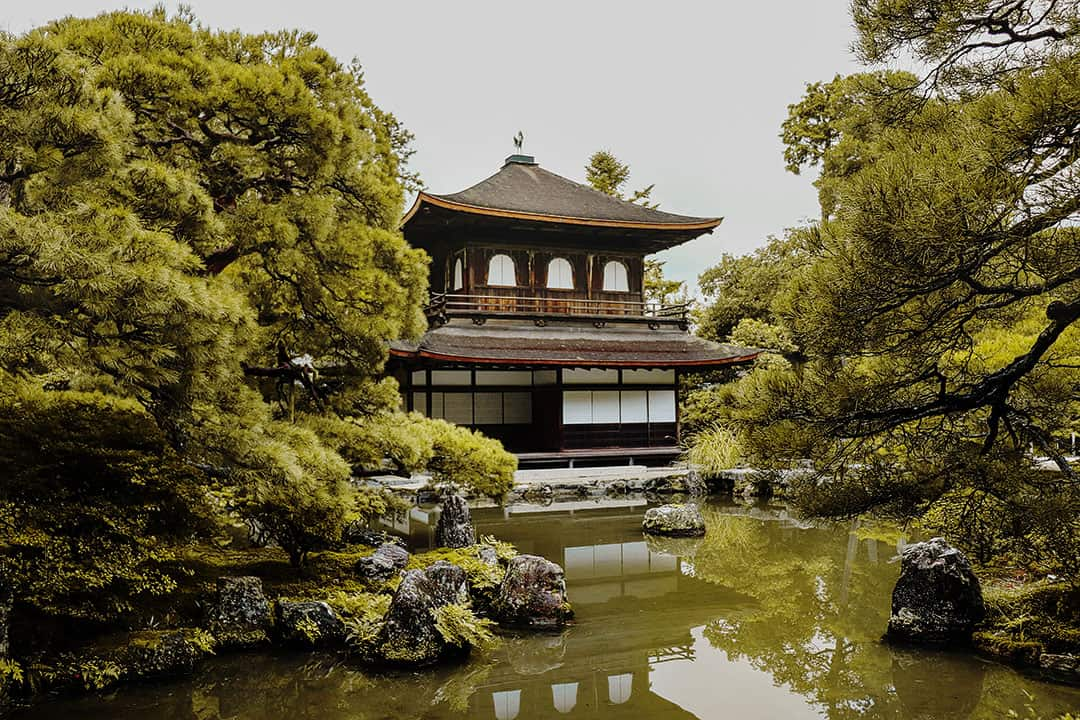 Ginkakuji or Silver Pavilion Kyoto Japan
