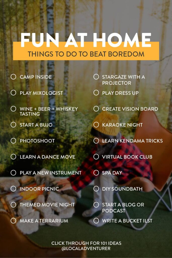 101 Fun Things to Do at Home