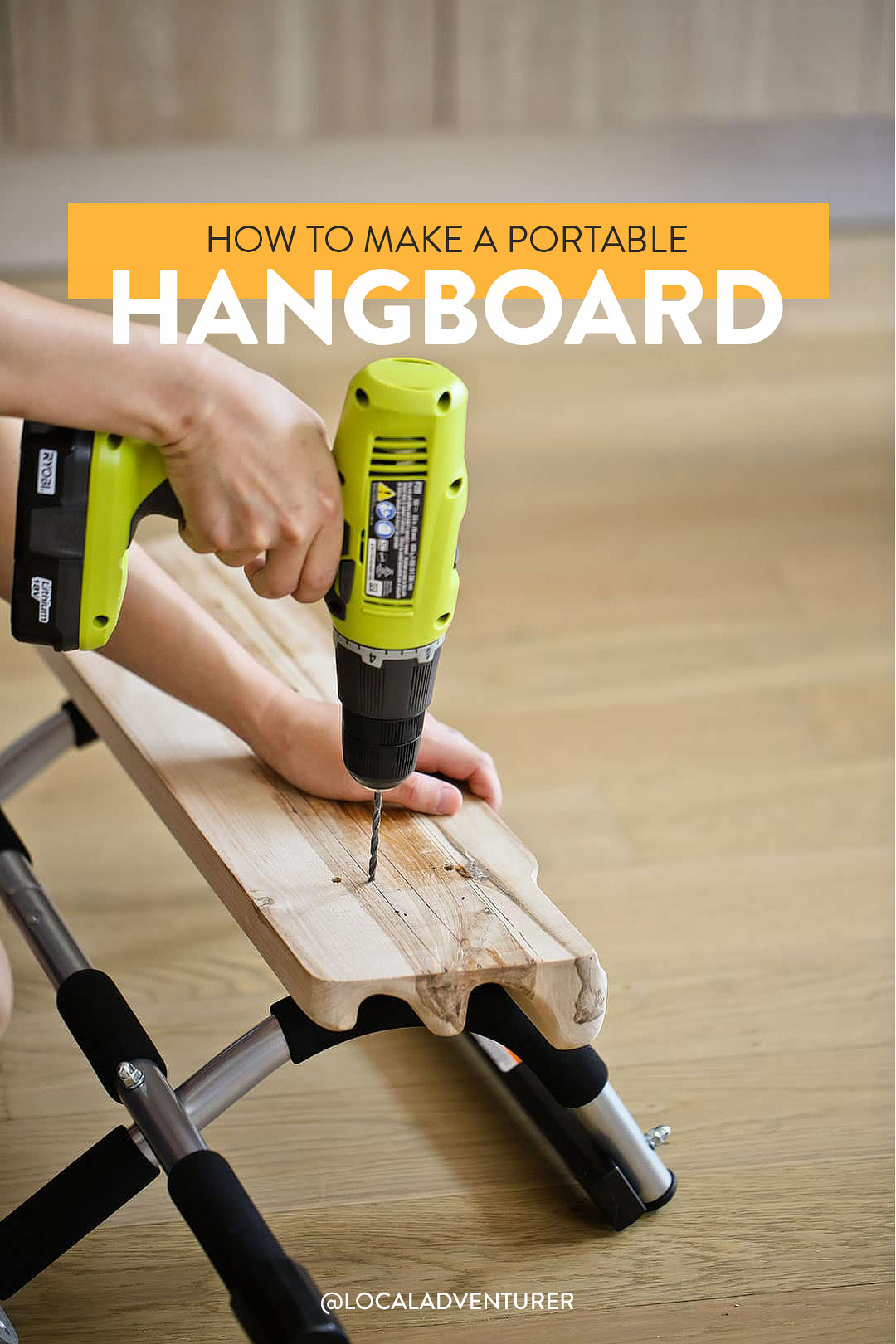 How to Make a Portable Hangboard DIY