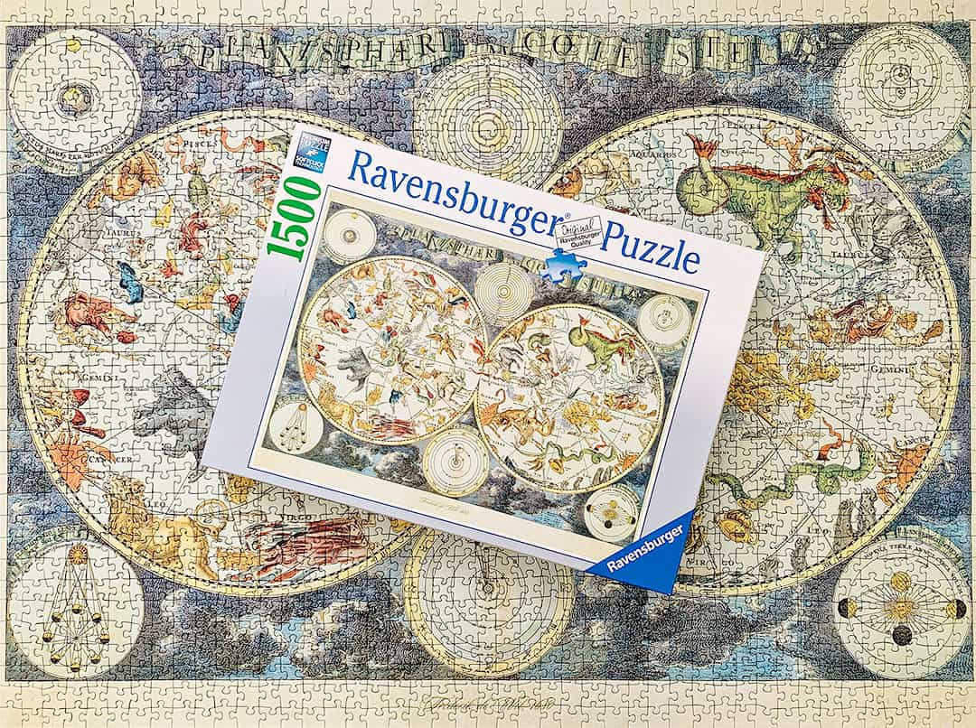 Vintage World Map Puzzle + 15 Incredible Travel Jigsaw Puzzles to Work on Right Now