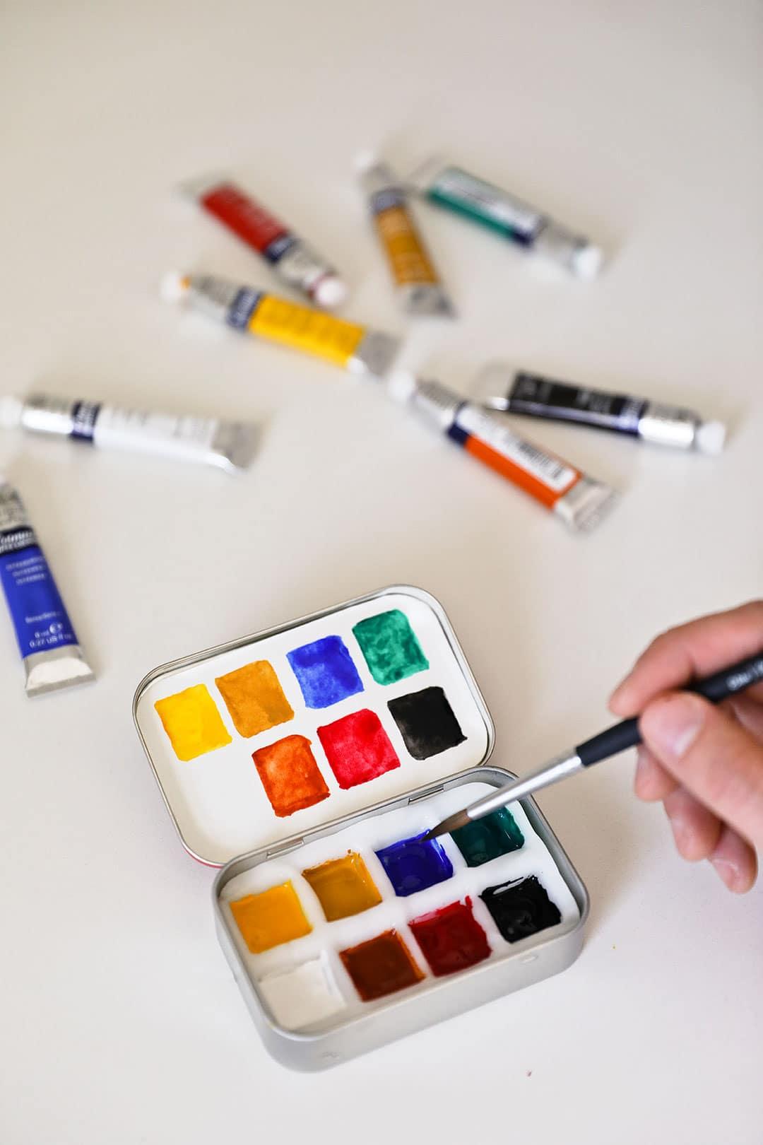 diy watercolor travel set