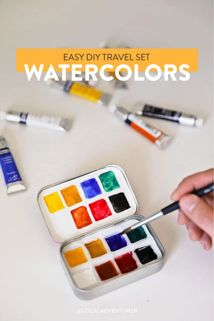 Quick and Easy Travel Watercolor Set DIY
