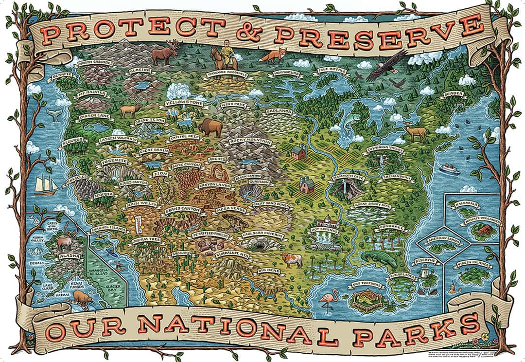 National Parks Puzzle + 15 Best Travel Puzzles to Work on When You're Not Traveling