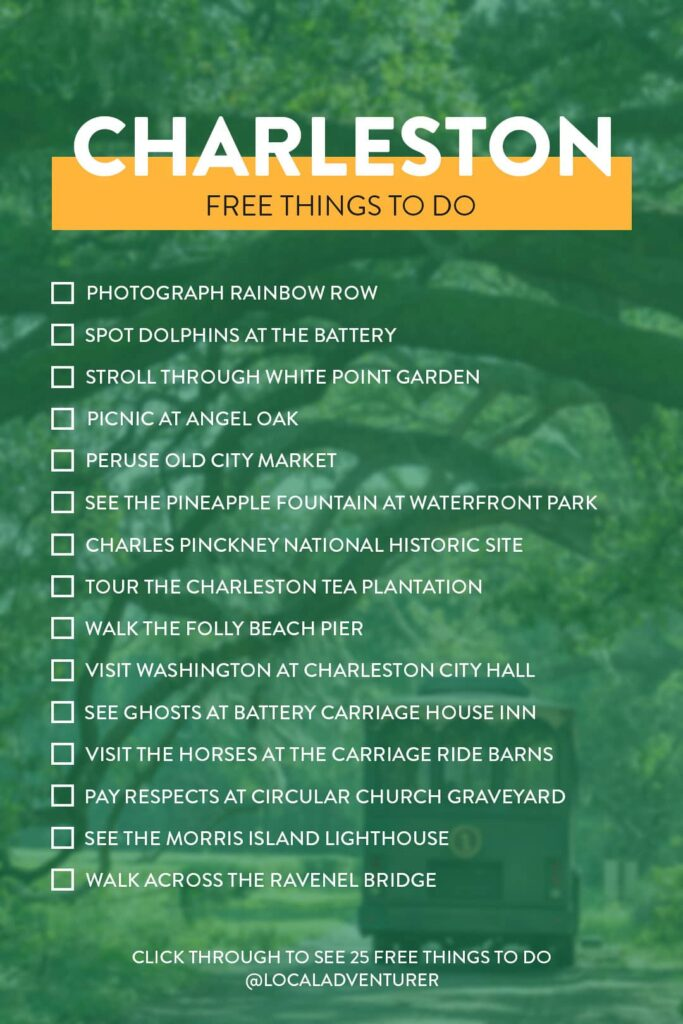 25 Things to Do in Charleston SC for Free