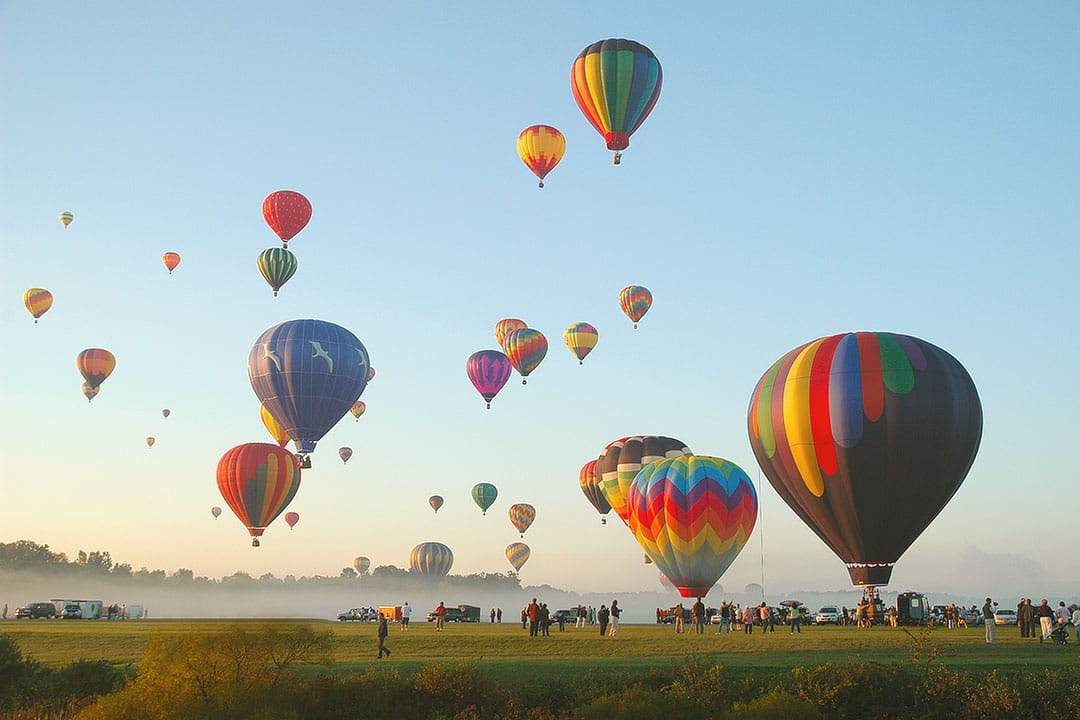 Adirondack Balloon Festival in Glen Falls NY + 15 Best Places to Visit in September in USA