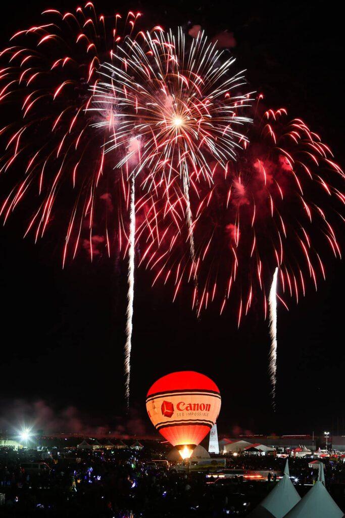 Canon Fireworks Albuquerque Balloon Festival