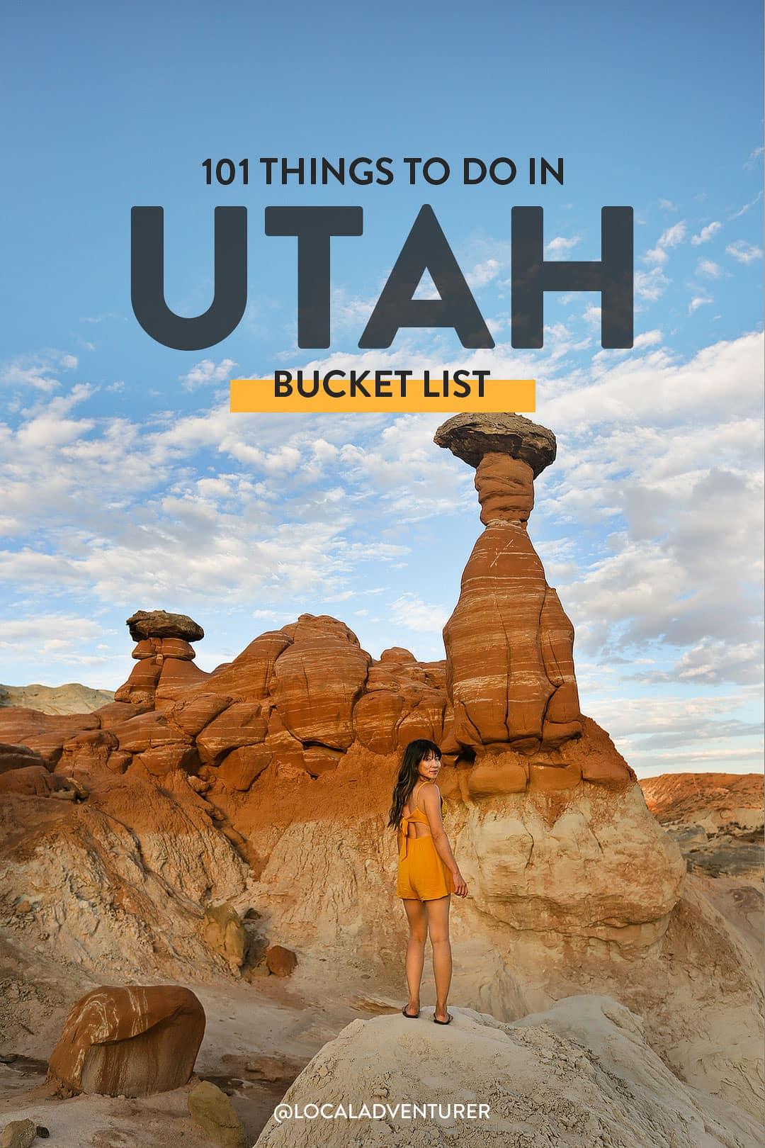101 Things to Do in Utah Bucket List