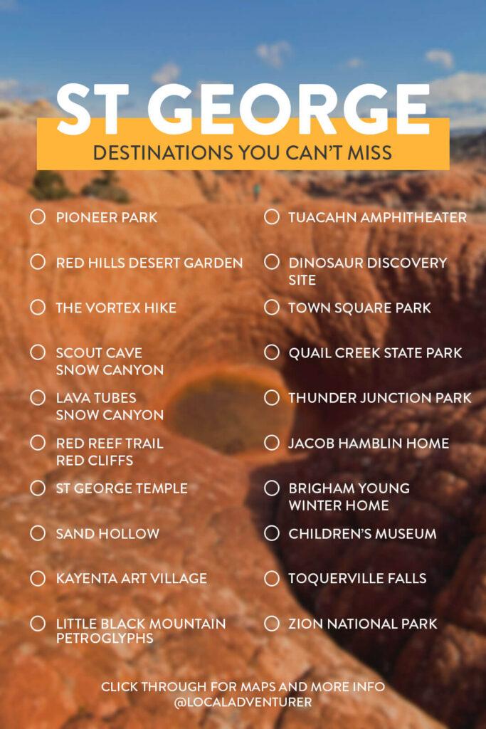 Bucket List Things to Do St George Utah