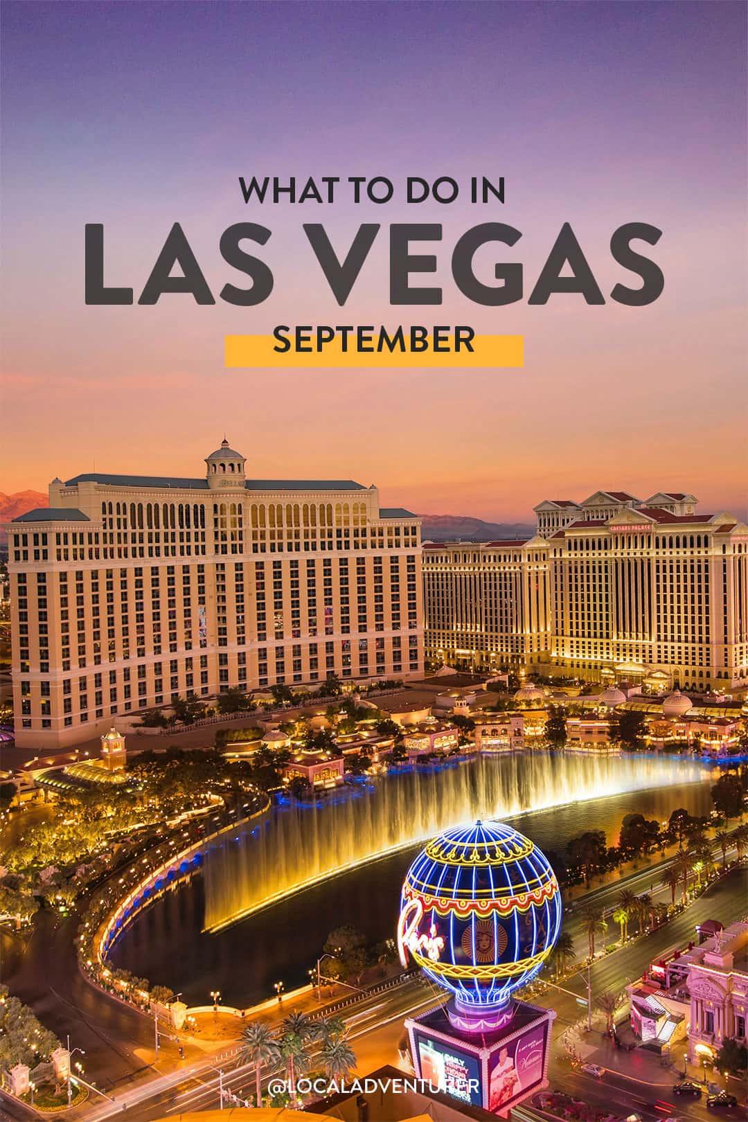Las Vegas September Events